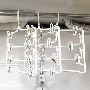 3 Heavy-Duty 4-Tier Plastic Skirt/Pants Hangers